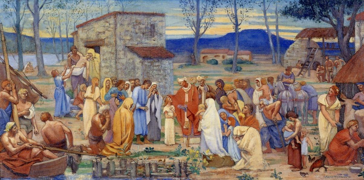 Tableau poétique des fêtes chrétiennes - Vicomte Walsh - 1843 - (Images et Musique chrétienne) Ruinb41c